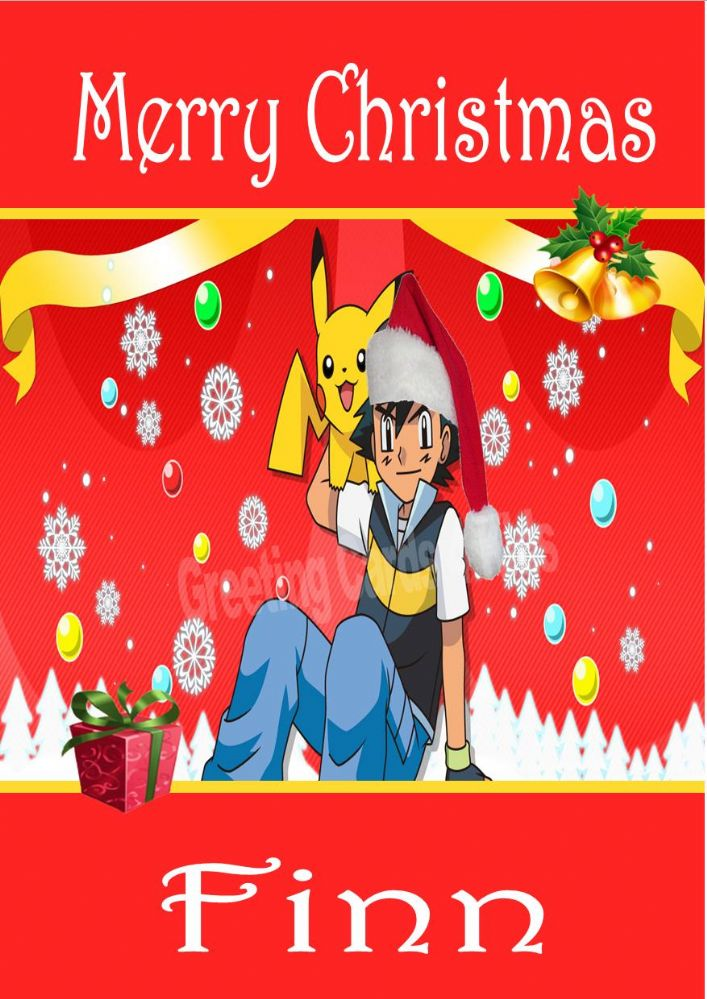 personalised pokemon christmas card